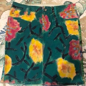 Anthropology hand painted skirt LN size 26